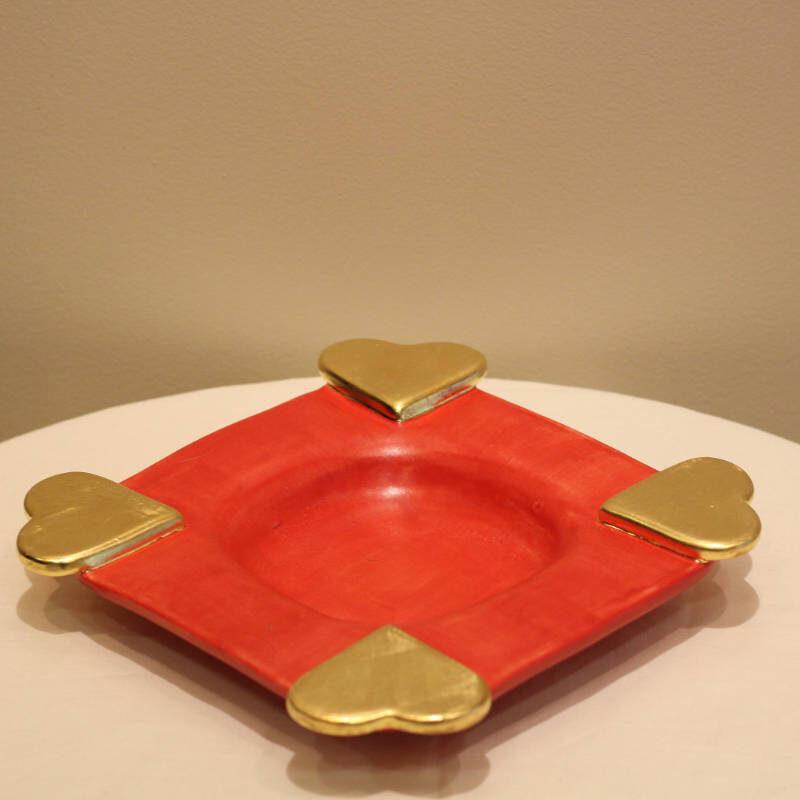 Hearts plate medium rot matt